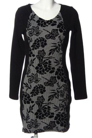 Smash Minikleid schwarz-weiß abstraktes Muster Casual-Look