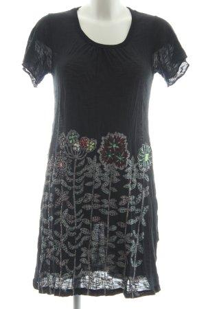 Smash Minikleid schwarz Blumenmuster Casual-Look