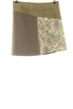 Smash Minirock braun-khaki abstraktes Muster Casual-Look
