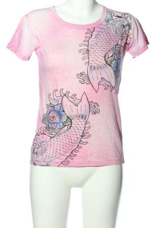 Smash Print-Shirt Blumenmuster Casual-Look