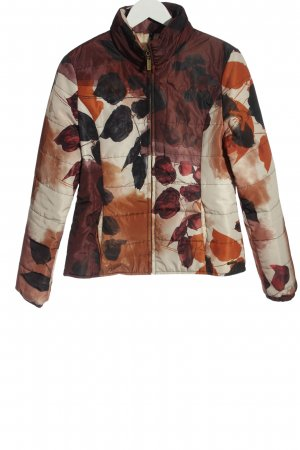 Smash Quilted Jacket white-brown themed print casual look