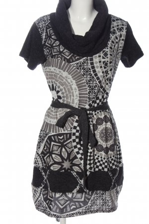 Smash Knitted Dress white-black allover print casual look
