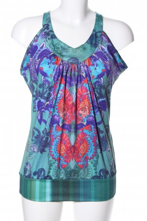 Smash Strappy Top turquoise-blue allover print casual look