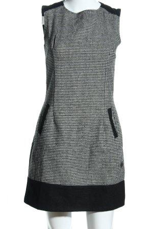 Smash Wollen jurk zwart-wit geruite print casual uitstraling