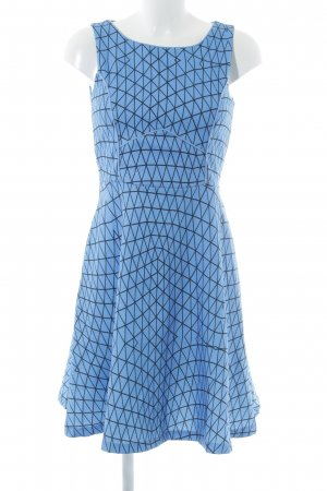 Smashed lemon Jerseykleid kornblumenblau abstraktes Muster Casual-Look