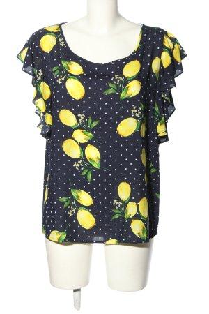 Smashed lemon Kurzarm-Bluse