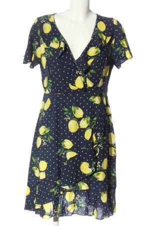 Smashed lemon Abito a maniche corte stampa integrale stile casual