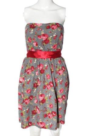 Smashed lemon schulterfreies Kleid Blumenmuster Elegant