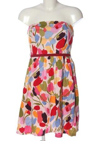 Smashed lemon schulterfreies Kleid mehrfarbig Casual-Look
