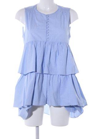 Blusenkleid blau Allover-Druck Casual-Look