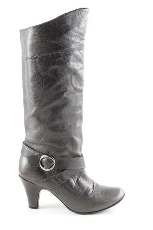 SMH Absatz Stiefel schwarz Casual-Look