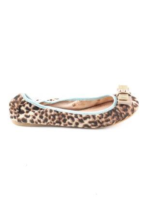 SMH Foldable Ballet Flats leopard pattern casual look