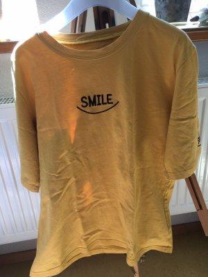 Smile Graphic T-Shirt gelb