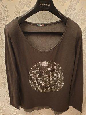 smile Nieten pullover grau anthrazit Silber Größe L XL 40 42 VB