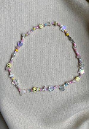 Smiley Kette mit Pastel-Perlen
