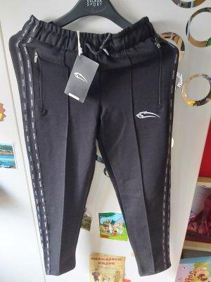 Smilodox Pantalón deportivo blanco-negro