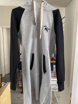 Smilodox Sweater Dress black-grey