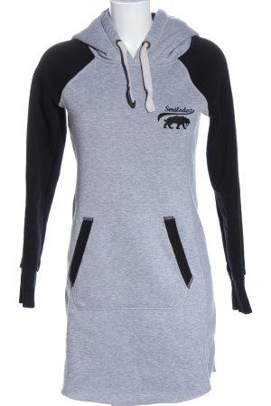 Smilodox Robe Sweat gris clair-noir moucheté style décontracté