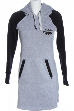 Smilodox Sweat Dress light grey-black flecked casual look
