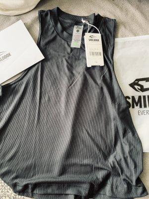 Smilodox Top deportivo sin mangas gris antracita-negro