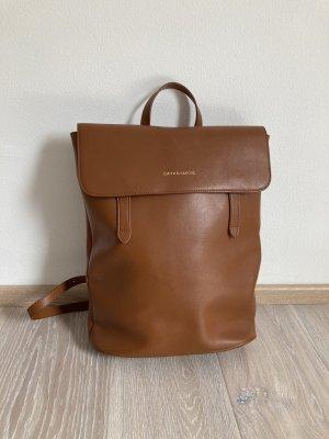 Smith & Canova Sac à dos pour ordinateur portable brun-cognac cuir