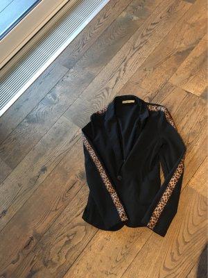 Smith&Soul Blazer de tela de sudadera negro-marrón