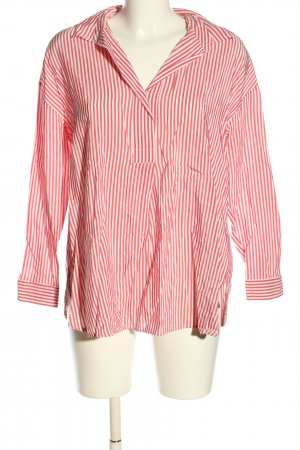 Smith&Soul Oversized Bluse rot-weiß Streifenmuster Casual-Look