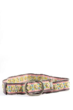 Smitten Pasek materiałowy jasnoszary-różowy W stylu casual