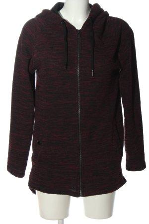 SMOG Felpa con cappuccio rosso-nero stile casual