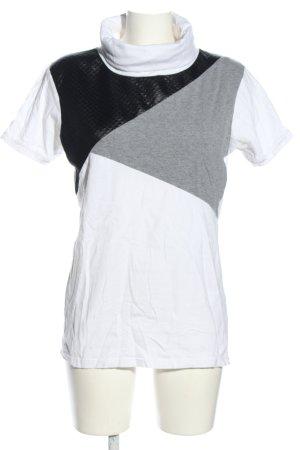 SMOG Maglia a collo alto bianco-grigio chiaro motivo animale stile casual