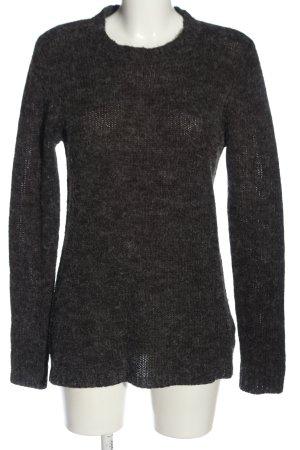 SMOG Maglione girocollo grigio chiaro puntinato stile casual