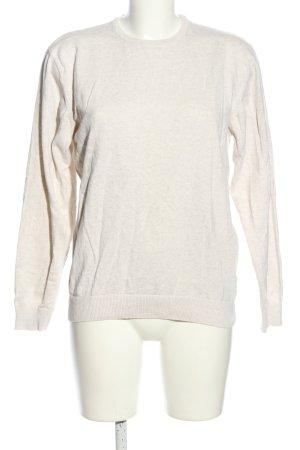 SMOG Maglione girocollo bianco sporco puntinato stile casual