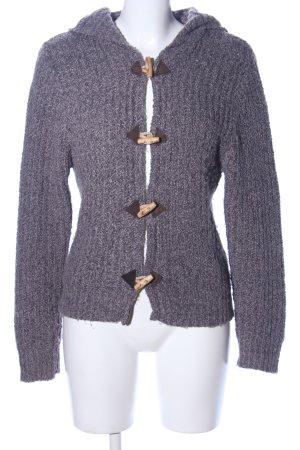 SMOG Giacca in maglia grigio chiaro-lilla puntinato stile casual