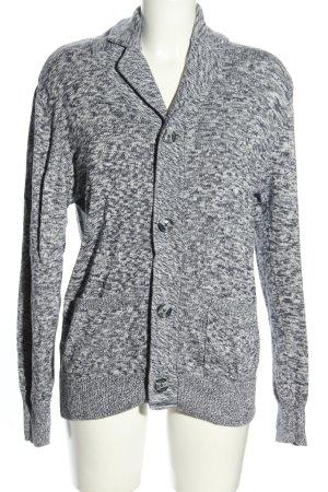 SMOG Giacca in maglia grigio chiaro puntinato stile casual