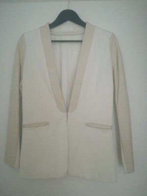 Aaiko Leather Blazer natural white-cream