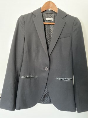 Smoking/ Business Blazer mit Lederdetails