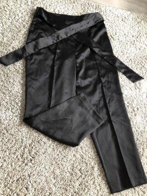 Zara Basic Spodnie karoty czarny