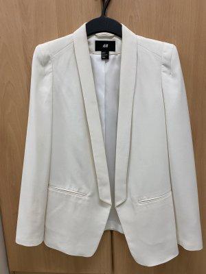H&M Veste de smoking blanc-blanc cassé