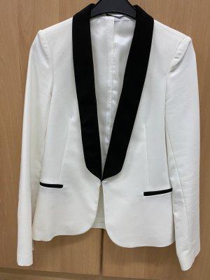 Promod Veste de smoking blanc-noir