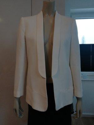 Mango Suit Blazer de esmoquin blanco puro