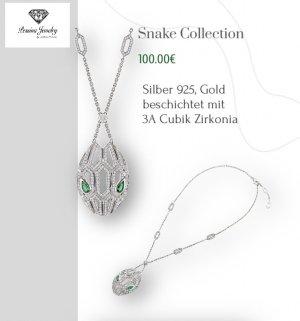 Snake Head Halskette