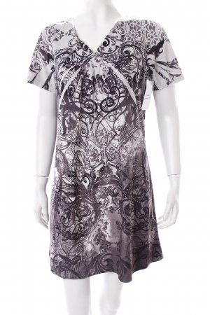 Snake Milano Kleid grau-dunkelbraun abstraktes Muster extravaganter Stil