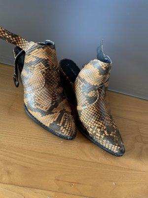 Snake Print Schuhe mit Absatz