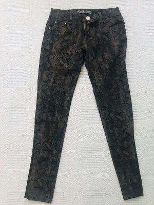 Snake print stretch  jeans