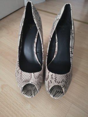 snakeskin peep toes 41