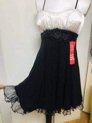Snap Damen Kleid Cocktail Dress Black & White 38 Neu