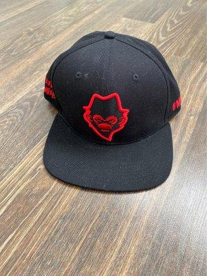 Baseballówka czarny-czerwony Bawełna