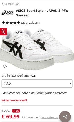 Asics High Top Sneaker white-black