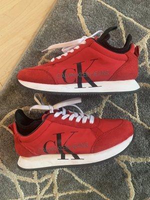 Calvin Klein Sneaker stringata rosso