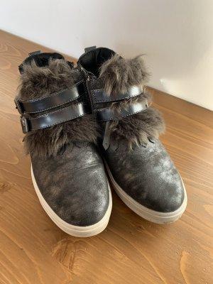 2-Biz Sneaker con zeppa talpa-antracite
